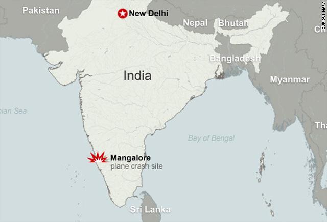 158 dead in india plane crash cnn map of air india plane crash gumiabroncs Gallery