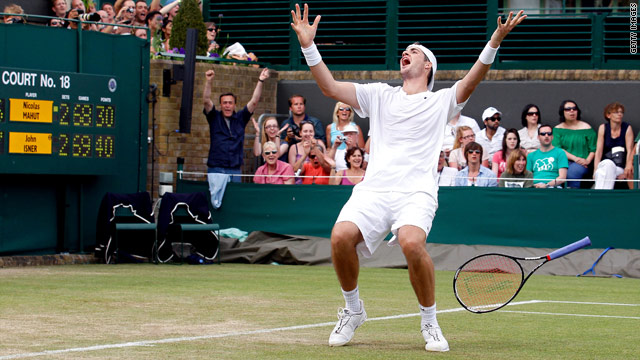 Isner wins longest-ever Wimbledon match