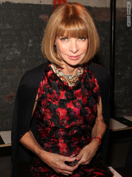 On Vogue editor-in-chief Anna Wintour...