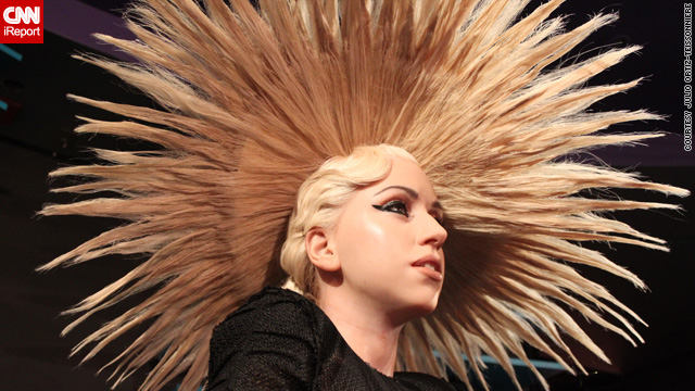 Lady Gaga wax figure at Madame Tussauds New York
