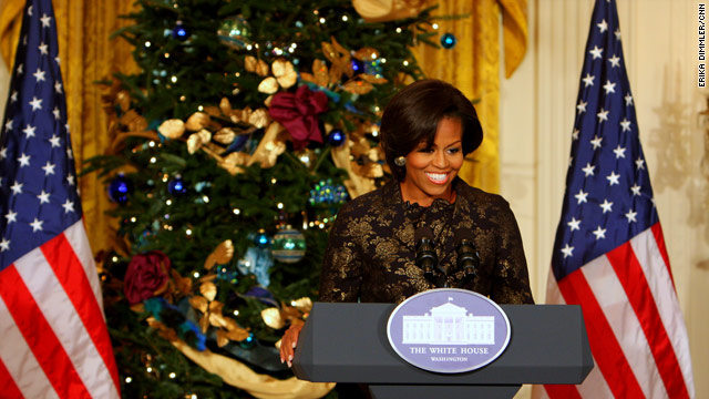First lady gives military families holiday preview
