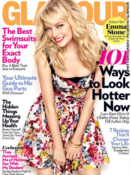 Emma Stone covers Glamour's May issue