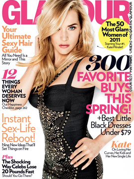 Kate Winslet covers Glamour's April issue
