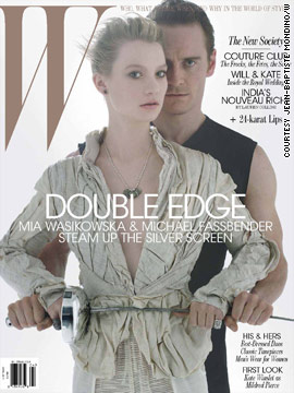 Mia Wasikowska and Michael Fassbender cover W