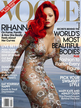 Rihanna covers the April issue of Vogue