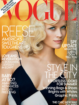 Reese Witherspoon covers the May issue of Vogue