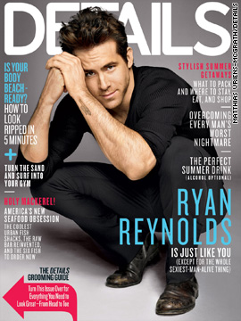 Ryan Reynolds covers Details magazine