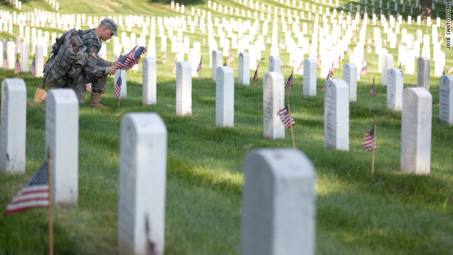 Flags for fallen soldiers