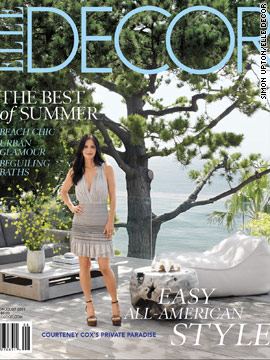 Courteney Cox shows off her Malibu estate in Elle Decor