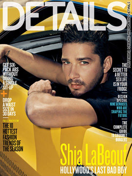 Shia LaBeouf covers the August issue of Details