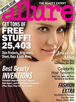 Jessica Alba covers the August issue of Allure