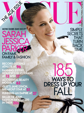 Sarah Jessica Parker covers Vogue's August issue