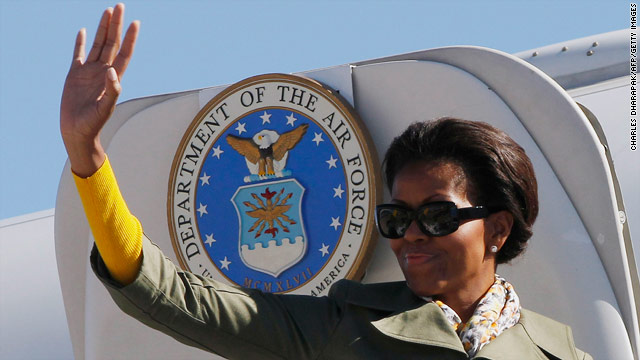 Sunday: Mrs. Obama's Africa trip concludes