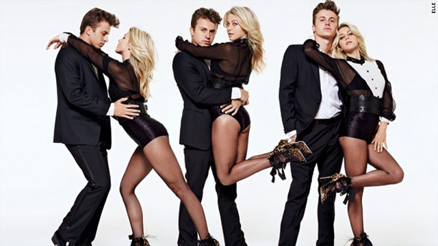 Julianne Hough and Kenny Wormald get 'Footloose' in Elle