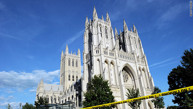 Quake damage to National Cathedral