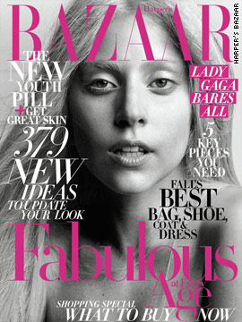 Lady Gaga goes 'bare' for Harper's Bazaar