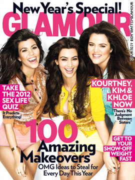 The Kardashian sisters cover Glamour magazine's January issue