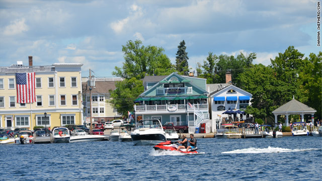Jet Skiing on Wolfeboro Bay