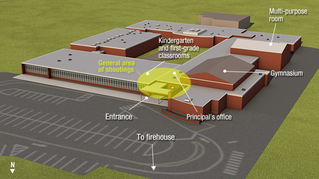 graphic depicting the site of the shooting. (CNN)