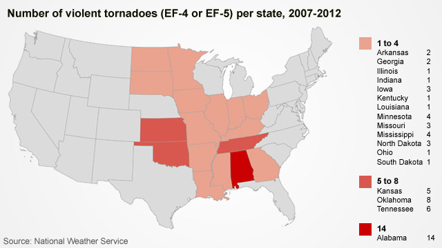 Tornadoes In The U S