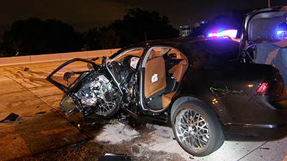 The aftermath of the July 19, 2012 crash.