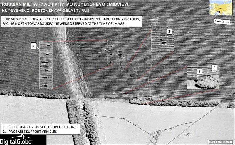 Satellite image near Kuybyshevo, Russia