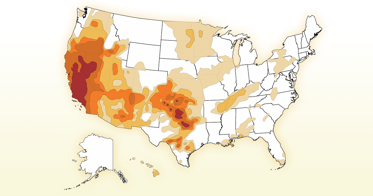 Map US Drought In CNNcom - Drought us map