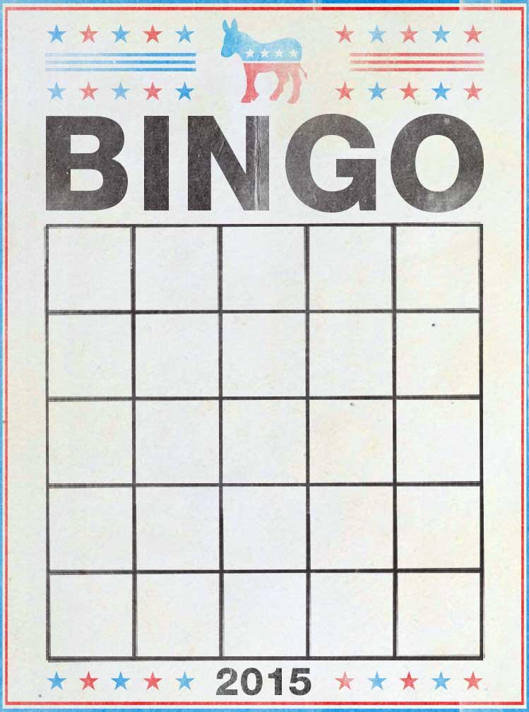DemDebate bingo card