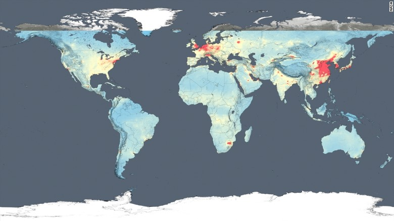 NASA Satellite Images Show How Polluted Your Country Is CNN - World satellite map 2014