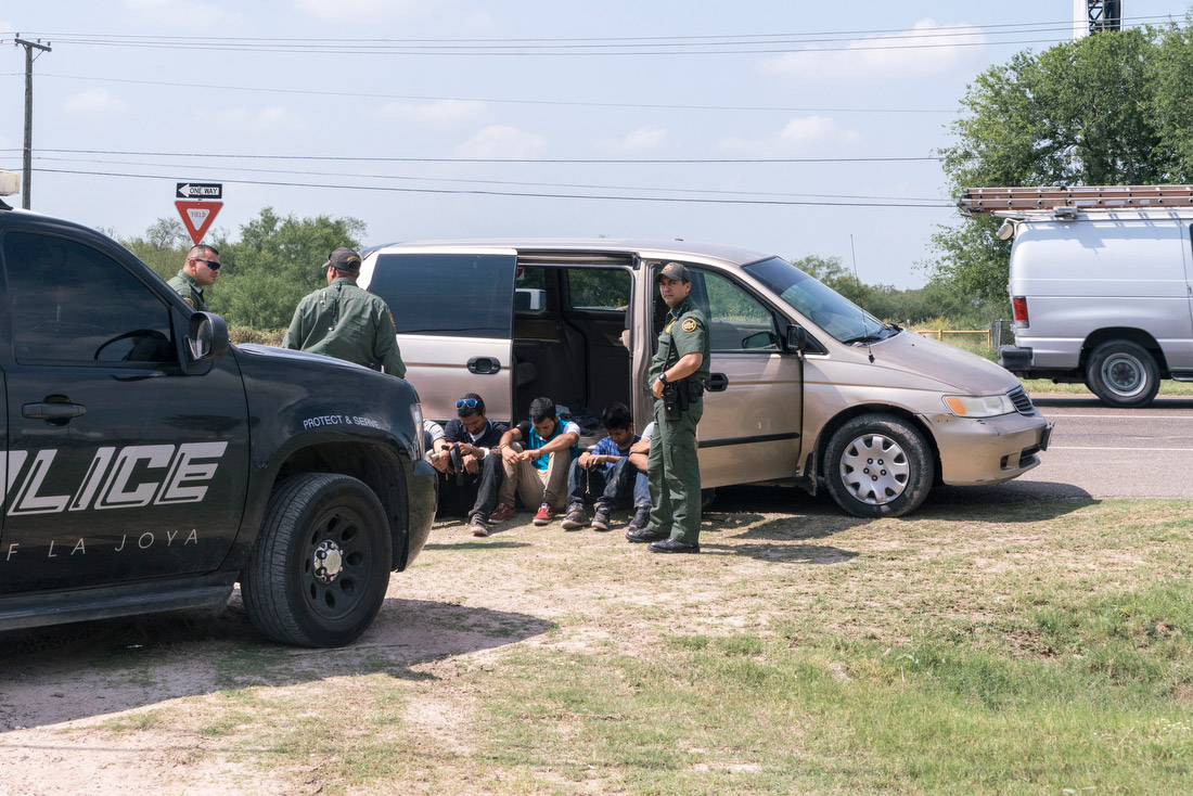 Border Patrol and other local law enforcement on West Military Highway in Pharr pulled over a minivan with Minnesota tags and at least five migrants inside. The driver fled as soon as the van was pulled over.