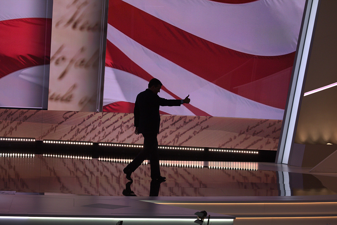 Ted Cruz is booed off stage at the Republican National Convention.