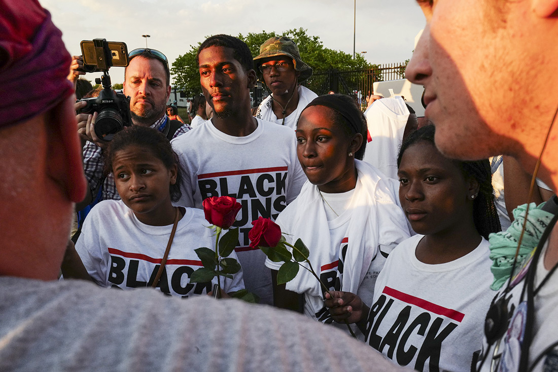 Supporters of the activist group Black Guns Matter.