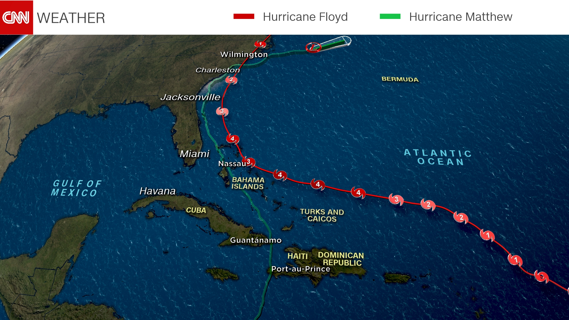 hurricane matthew u0026 39 s path  how does it compare with other