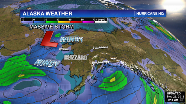 Arctic &#039;hurricane&#039; slams Alaska