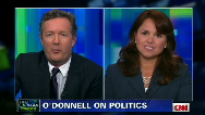 Christine O&#039;Donnell walks off during interview