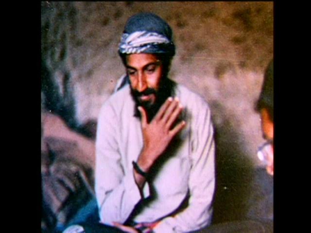bin laden face in smoke. The life of Osama in Laden