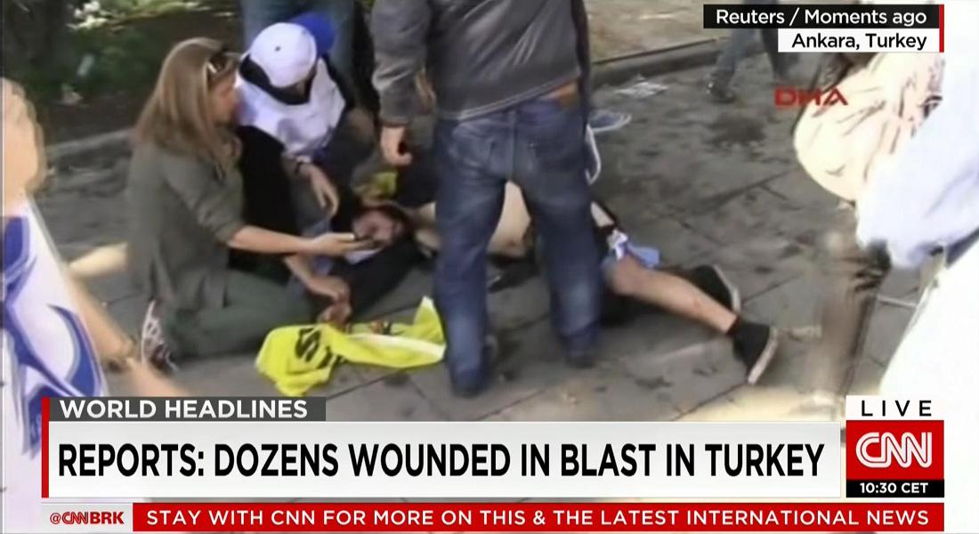 شاهد لـCNN: انفجار شديد قرب محطة القطارات بالعاصمة التركية هز البنايات المجاورة