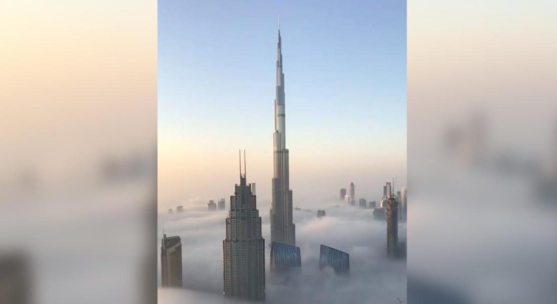 بالفيديو.. لقطات رائعة لولي عهد دبي من فوق الضباب - CNNArabic.com