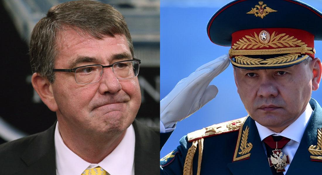 وزير الدفاع الروسي: أطلقنا عمليات ضد  داعش  من بحر قزوين.. ونظيره الأمريكي: مشاركة روسيا في سوريا  خطأ فادح  - CNNArabic.com
