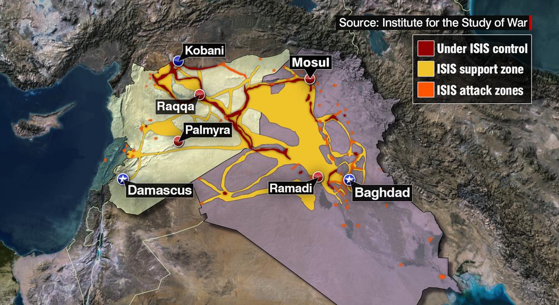 تقرير: داعش يكثف استخدامه لمواد كيماوية بمعارك في العراق وسوريا - CNNArabic.com