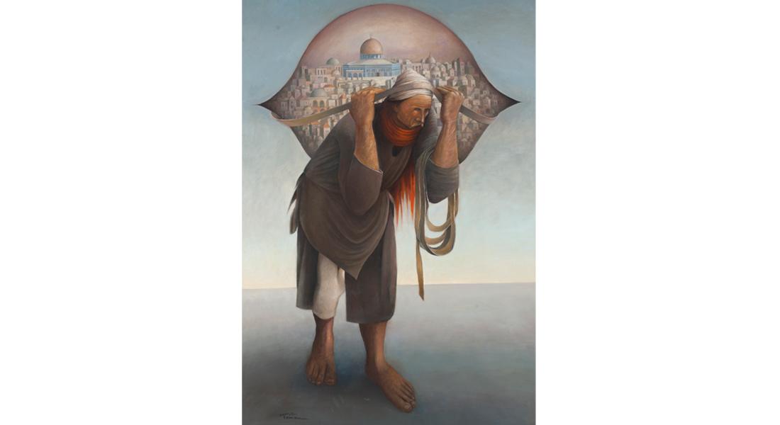 لوحة  جمل المحامل 2  للفنان الفلسطيني سليمان منصور بمزاد علني في دبي قريباً - CNNArabic.com