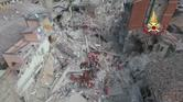 مشاهد من طائرة بدون طيار لآثار زلزال إيطاليا