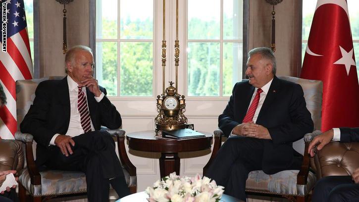 """مقاتلات أمريكية تساند تركيا في عملية """"درع الفرات"""".. ويلدريم يطالب واشنطن بمراجعة علاقتها بأكراد سوريا"""