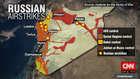 على الخريطة.. المناطق التي استهدفتها الغارات الروسية في سوريا ومن يسيطر عليها