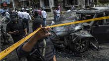 السيارة التي تم تفجيرها وأدى الانفجار إلى مصرع النائب العام المصري هشام بركات، القاهرة 29 يونيو/ حزيران 2015
