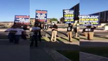 متظاهرون يمزقون ويهينون القرآن أمام مركز إسلامي بأريزونا