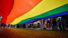 جانب من مظاهرة مؤيدة للمثليين في المكسيك