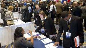 معرض للتوظيف أقيم في الولايات المتحدة يناير/ كانون الأول 2012