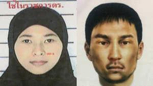 الشرطة التايلاندية تكشف عن صورتين لرجل وامرأة للاشتباه بصلتهما بتفجير بانكوك