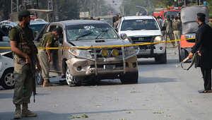 جنود باكستانيون يطوقون موقع تفجير سابق في بيشاور  23 سبتمبر/ أيلول 2014